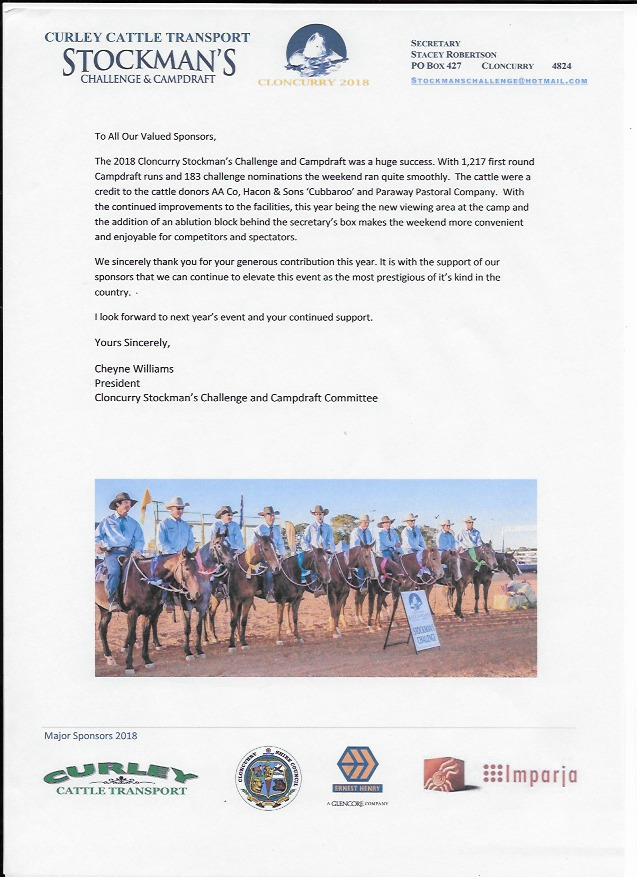 Cloncurry Stockmans Challenge 2018