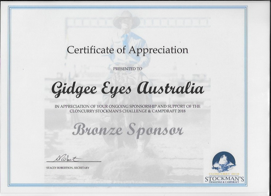 Cloncurry Stockmans Challenge Certificate