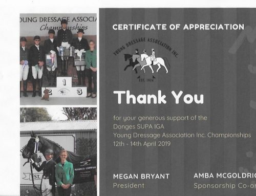 Young Dressage Sponsors 2019